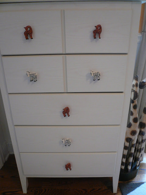 Safari nursery drawer pulls