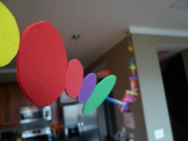 Rainbow party DIY garland