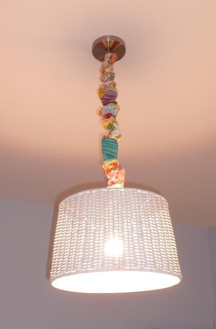 DIY light cord cover