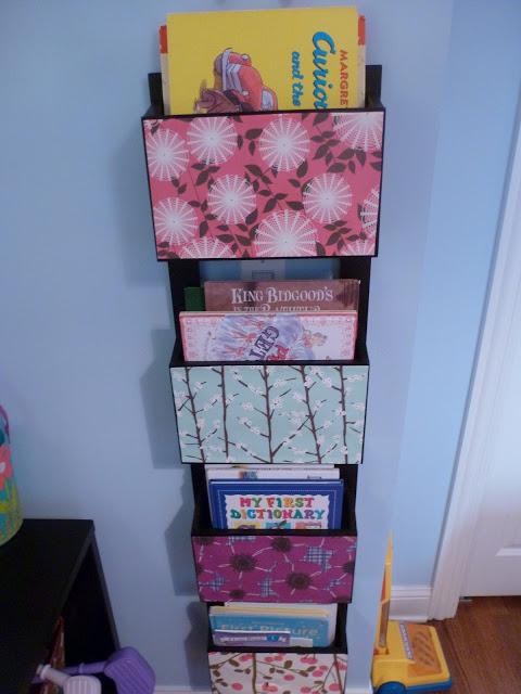 DIY book rack / magazine rack
