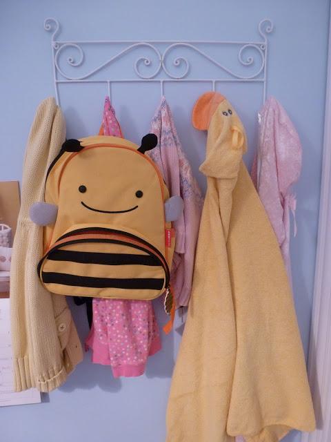 Hooks in kids room