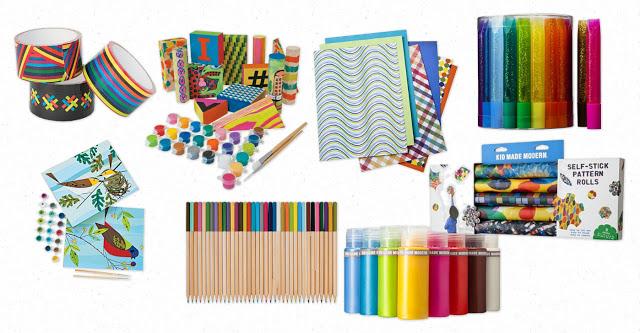 Kid art and craft supplies