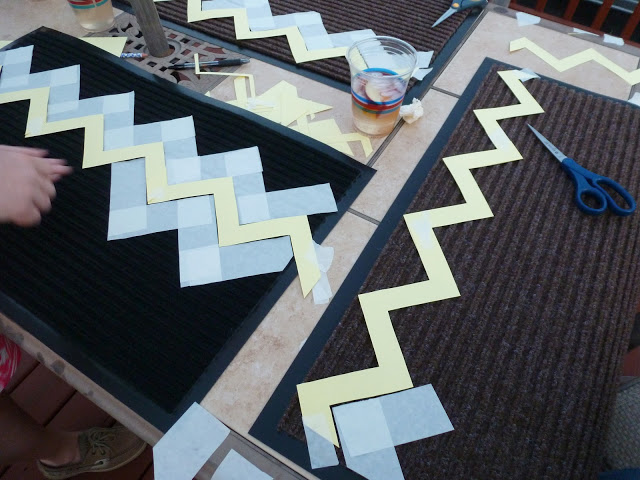 DIY Chevron Rug