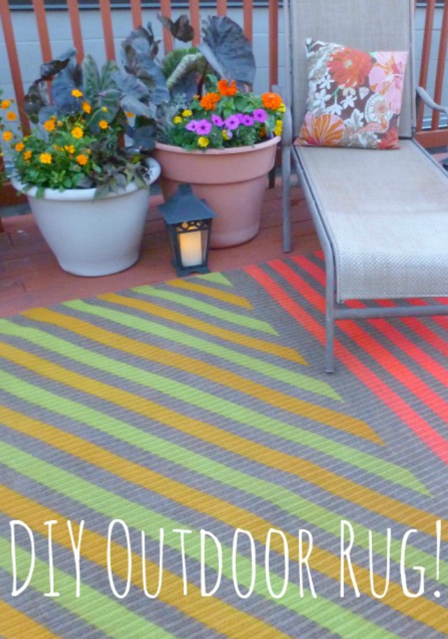 My Insanely Awesome DIY Outdoor Rug!