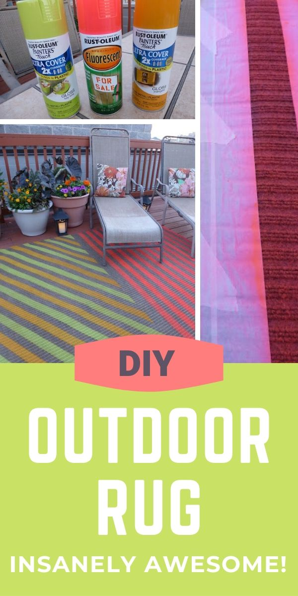 How to spray paint a DIY outdoor rug
