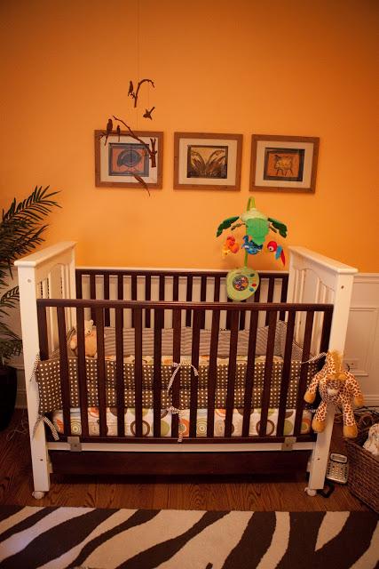 Safari nursery orange walls