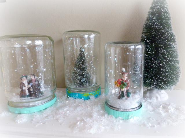 homemade snow globe