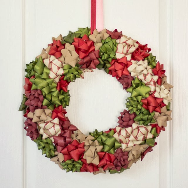How to hang your finished bow wreath