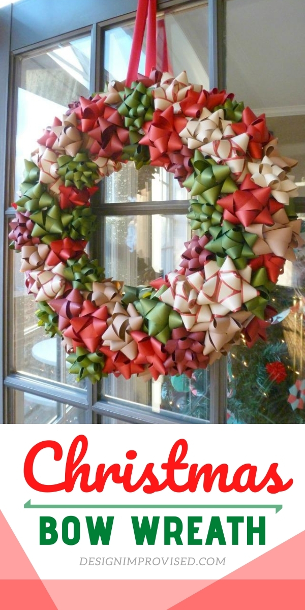 DIY Christmas Bow Wreath
