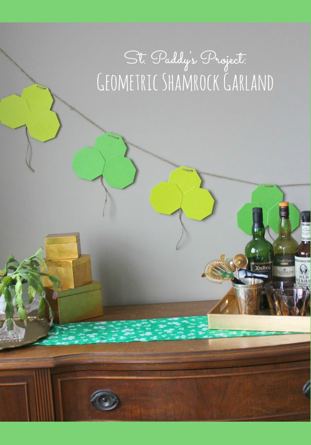 St patricks day shamrock garland