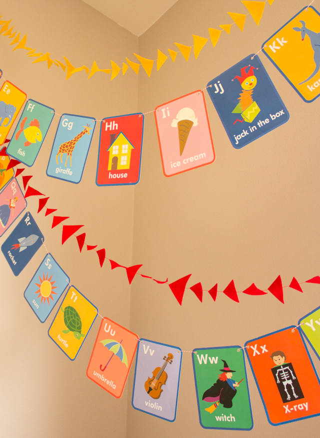 Alphabet Cards Garland