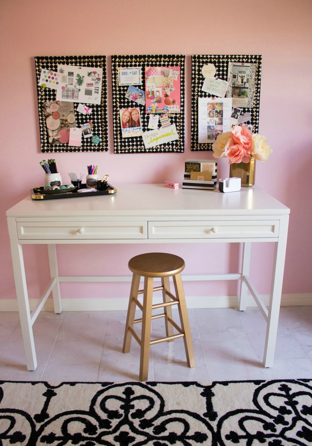 Pink office and craft room ideas