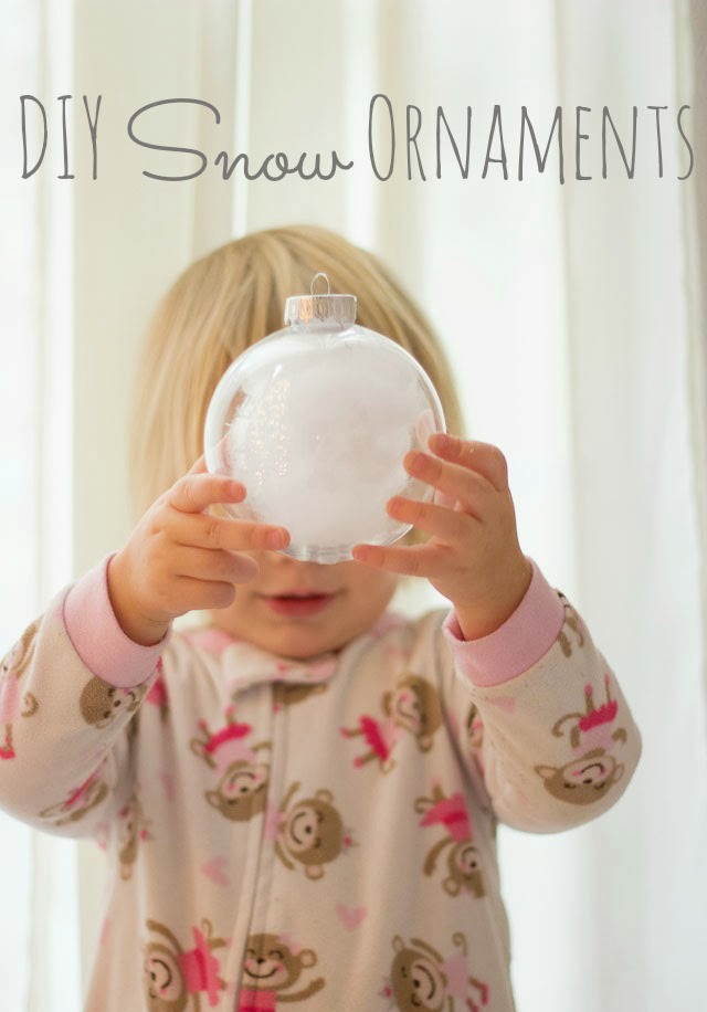 DIY Snow Ornaments