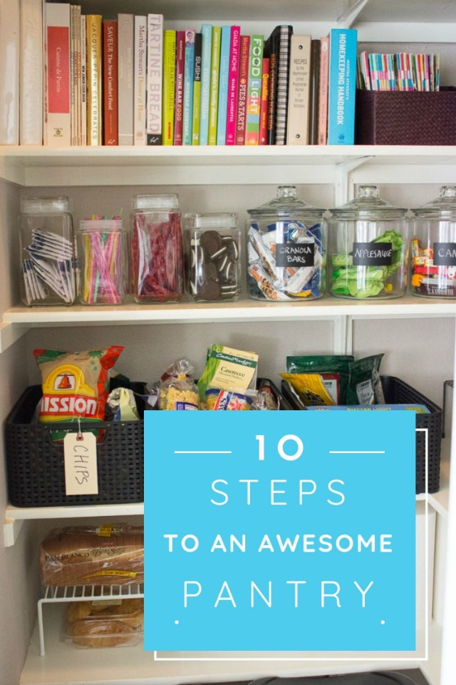 Get your pantry looking fabulous with these 10 simple tips! #pantry #pantryorganization #pantrytips