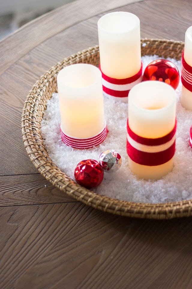 How to Decorate Flameless Candles with Yarn