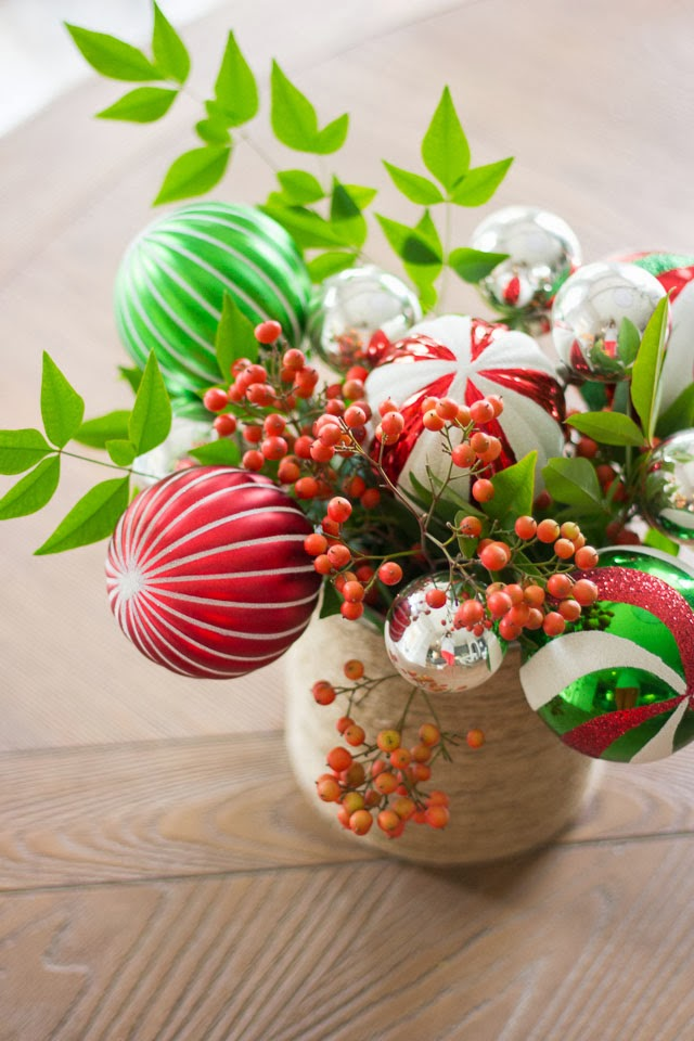 The Prettiest Ornament Bouquet for Christmas!