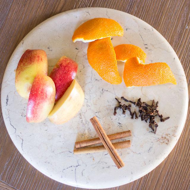 Orange peel potpourri stove top