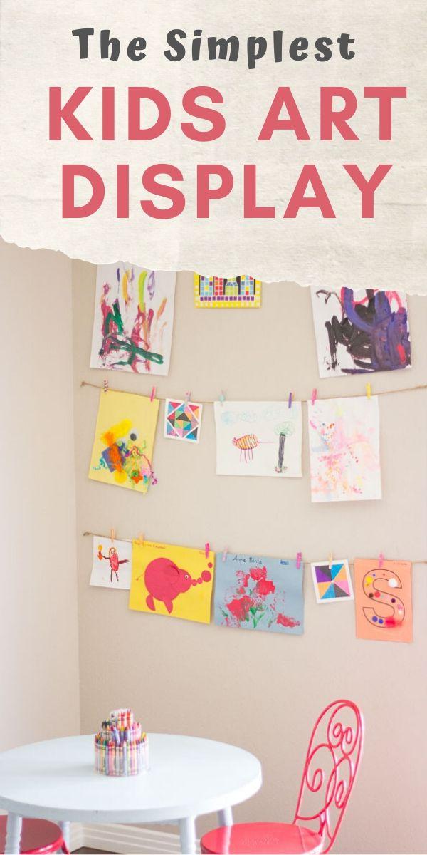 How to make a rotating kids art display