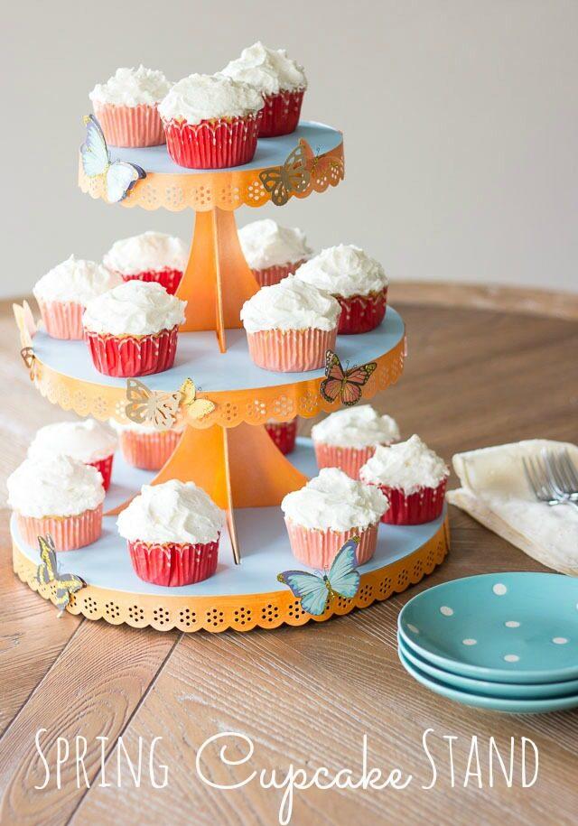 DIY Spring Cupcake Stand