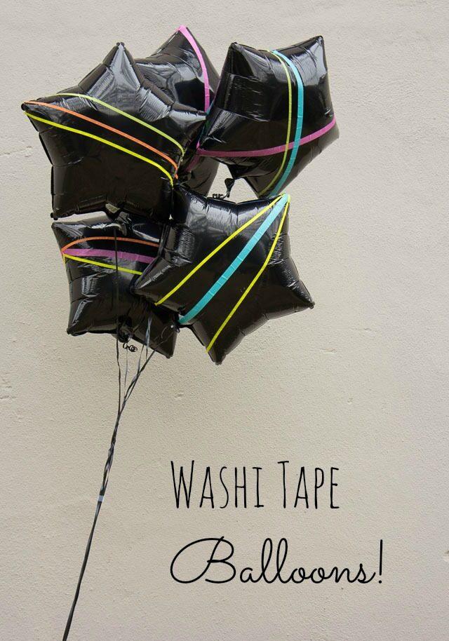 Washi Tape Balloons