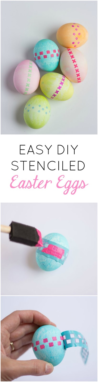Paint Easter eggs with adhesive stencils - it is so easy!
