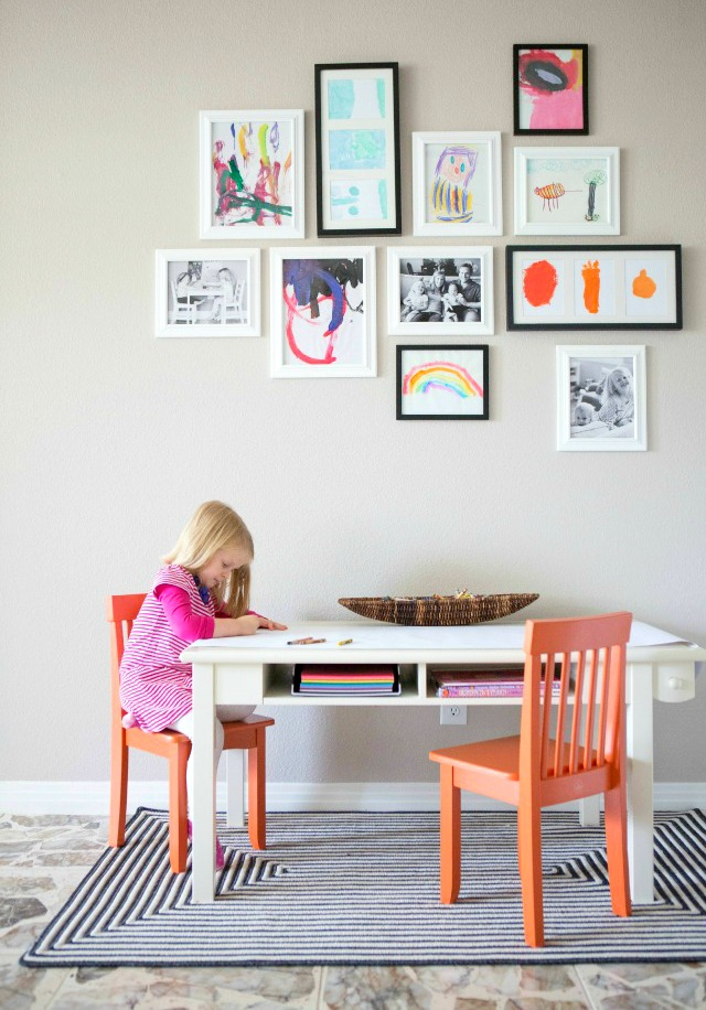 How to Create a Kids Art Gallery Wall