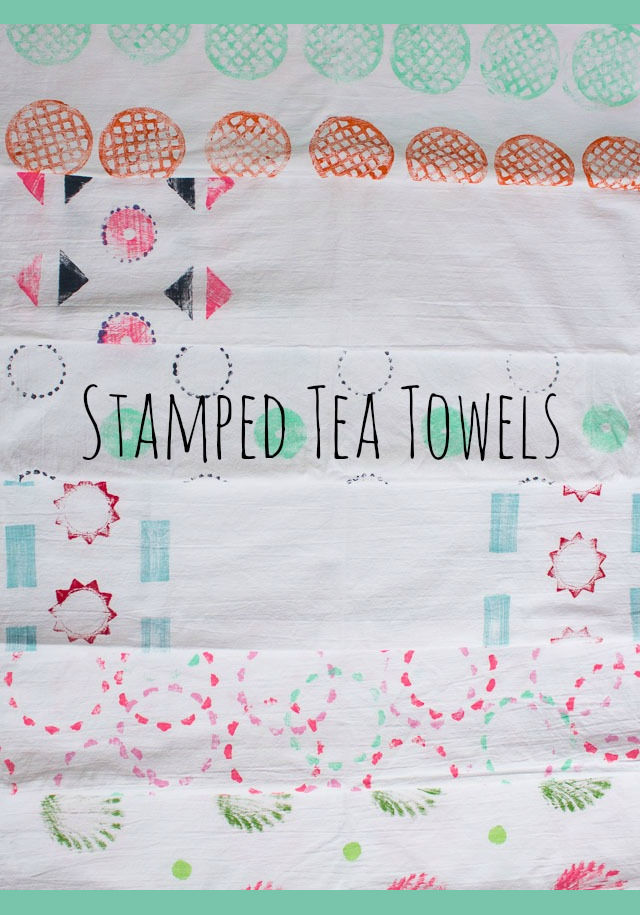 Stamped Tea Towels