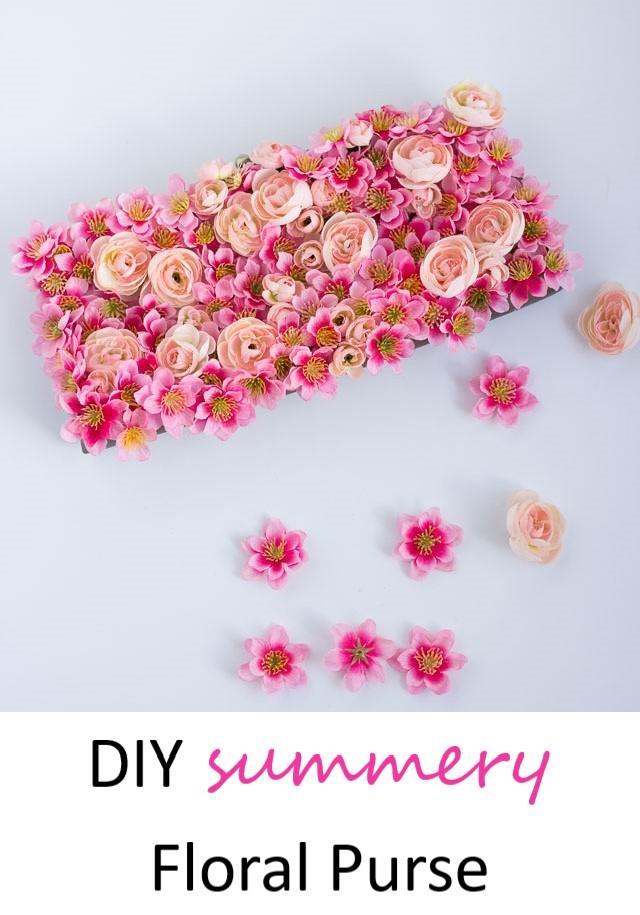 DIY floral summer purse