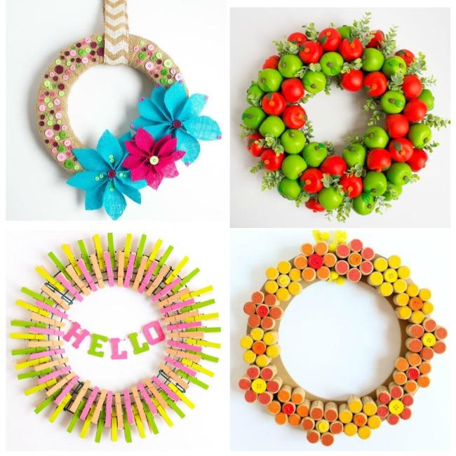 Simple DIY wreath craft ideas on Design Improvised