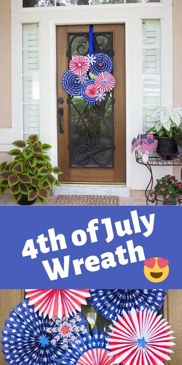 DIY Patriotic Wreath for 4th of July