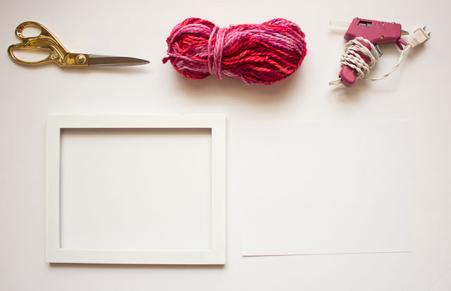 Simple yarn name art - perfect for a child's room || Design Improvised blog