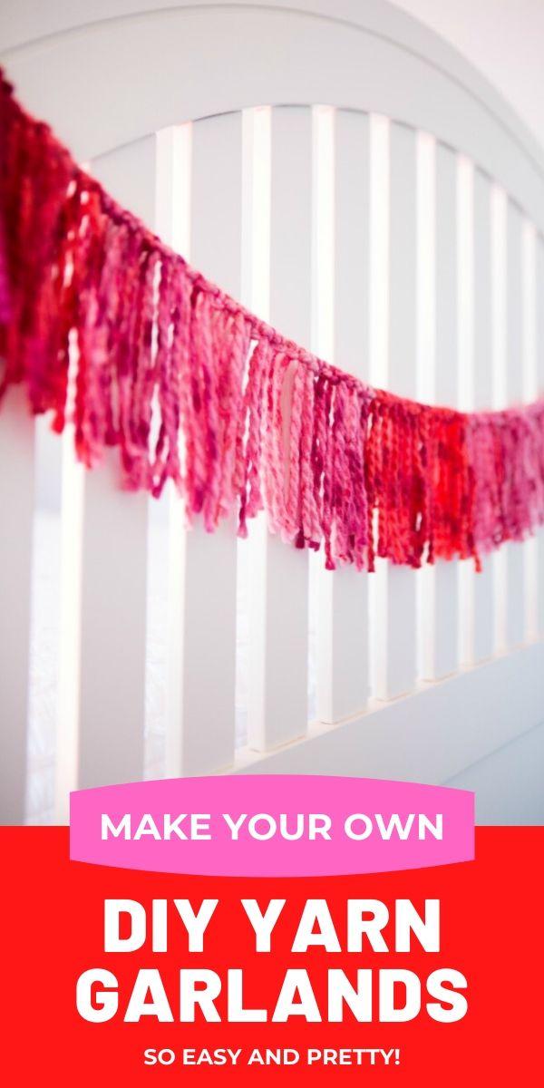 How to make a simple yarn garland