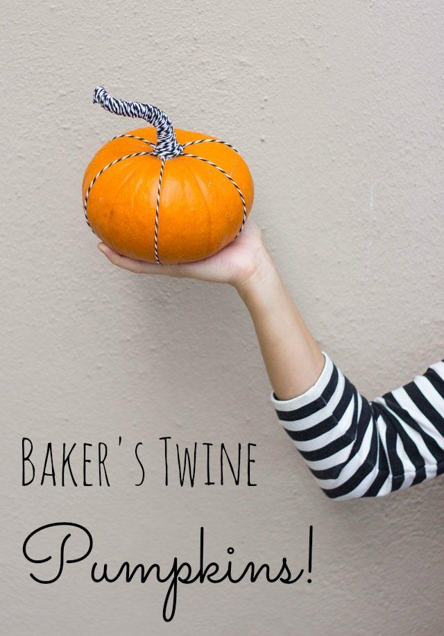 Bakers twine pumpkin