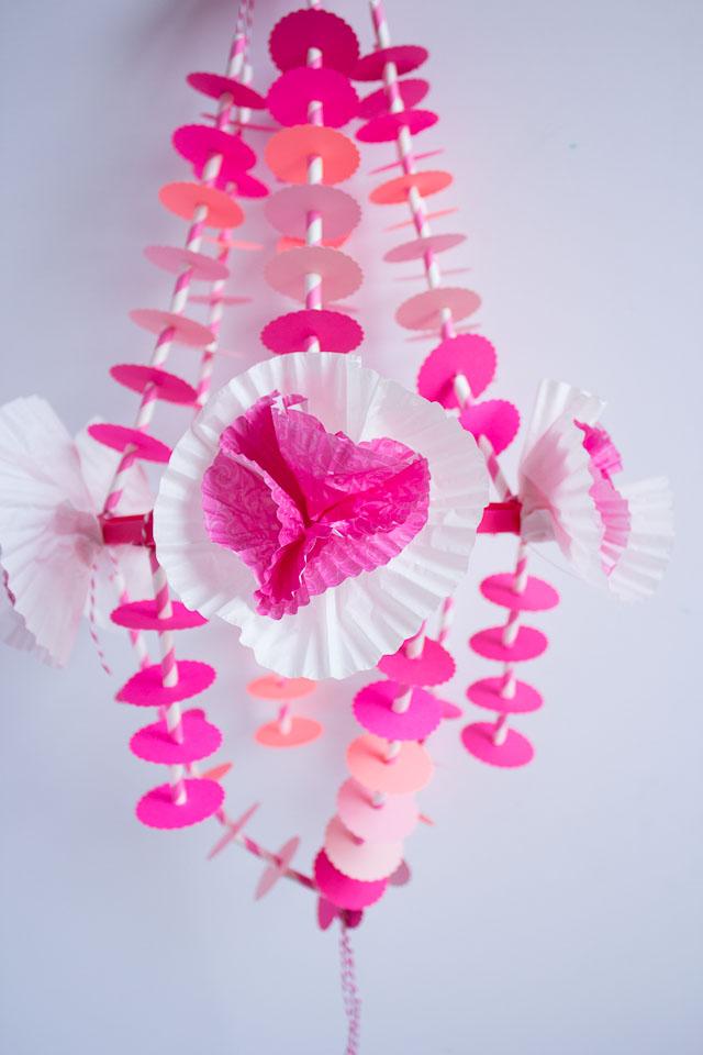 DIY paper chandelier