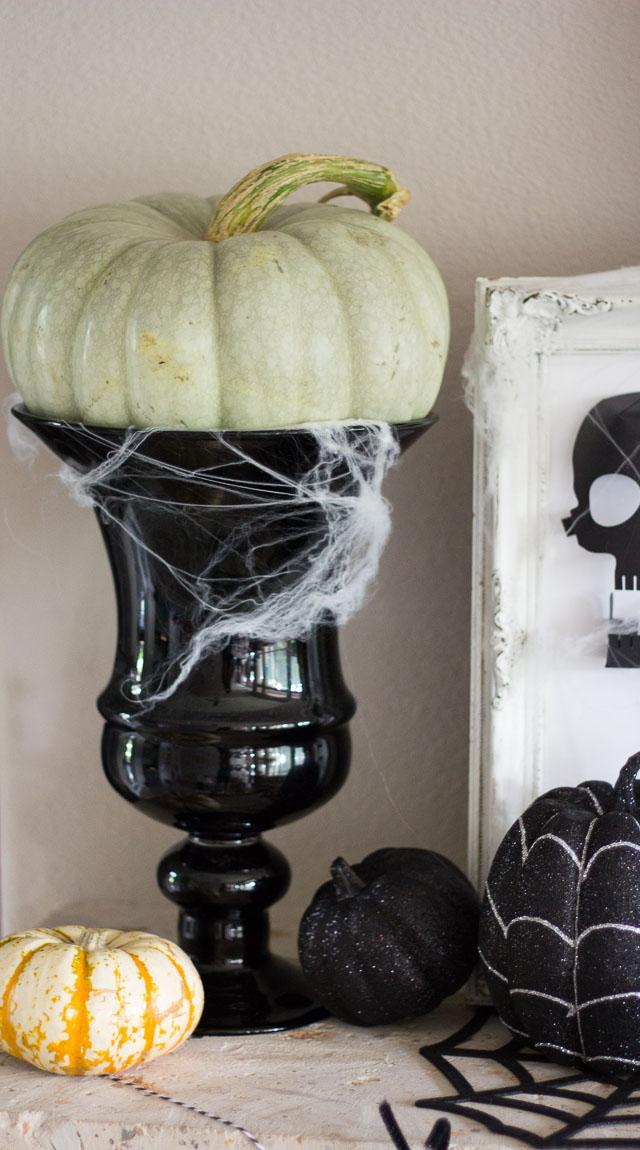 A simple Halloween mantel featuring Martha Stewart decor. #12MonthsofMartha http://designimprovised.com