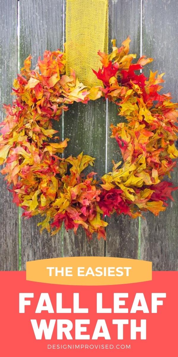 The Easiest Fall Leaf Wreath