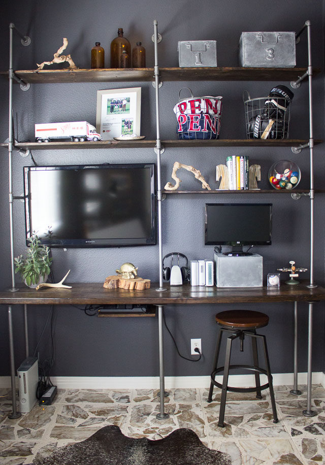 Industrial Pipe and Wood Shelves – Tips and Tricks