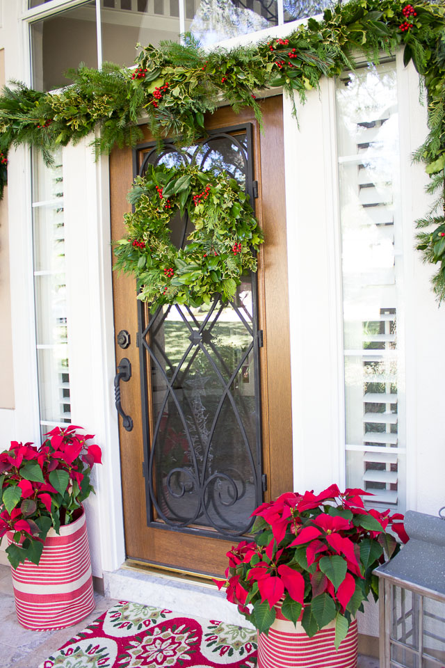 How To Decorate Your Front Porch With Christmas Greenery
