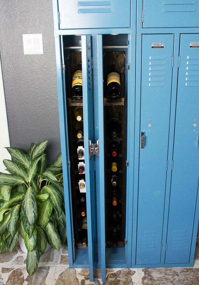 Gym Locker turned DIY Wine Locker!
