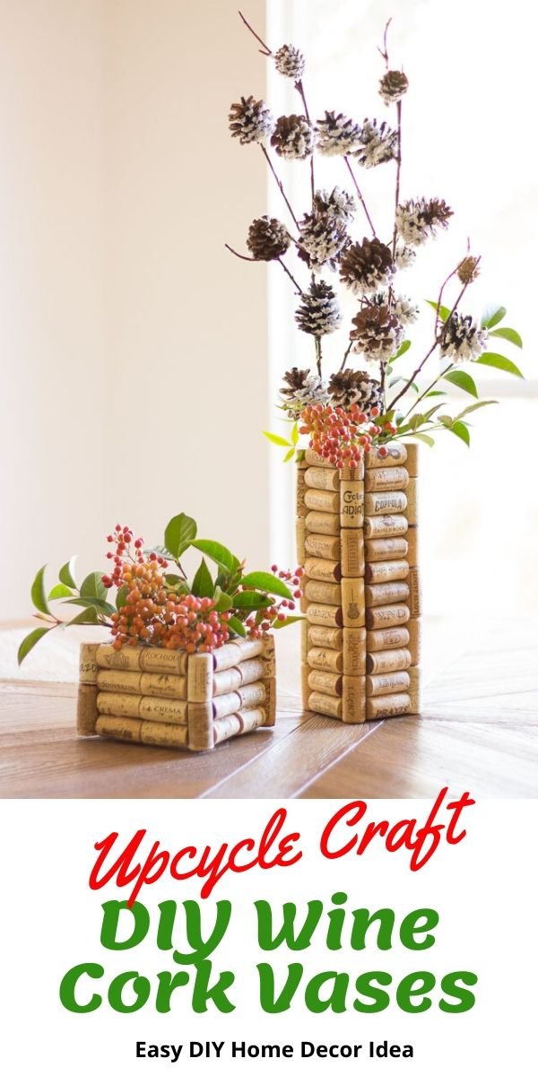 How to make a wine cork vase for under $10