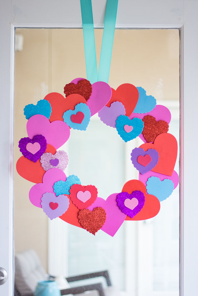 Easy Foam Heart Wreath