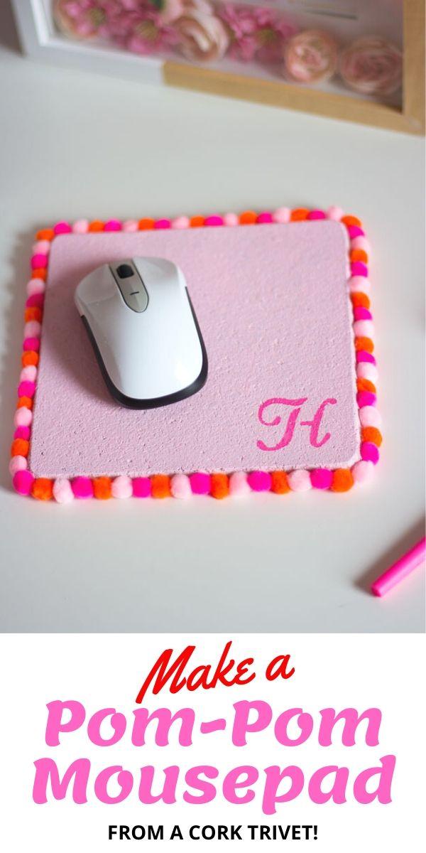 How to make a pom-pom mousepad