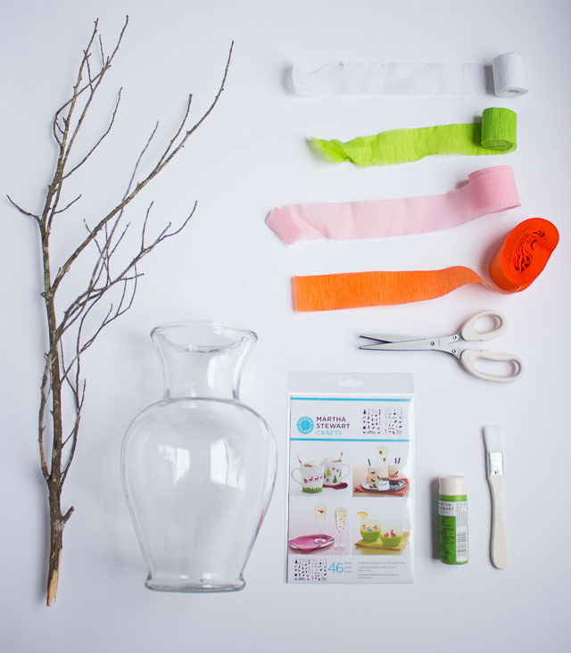 Supplies for DIY flowering branches