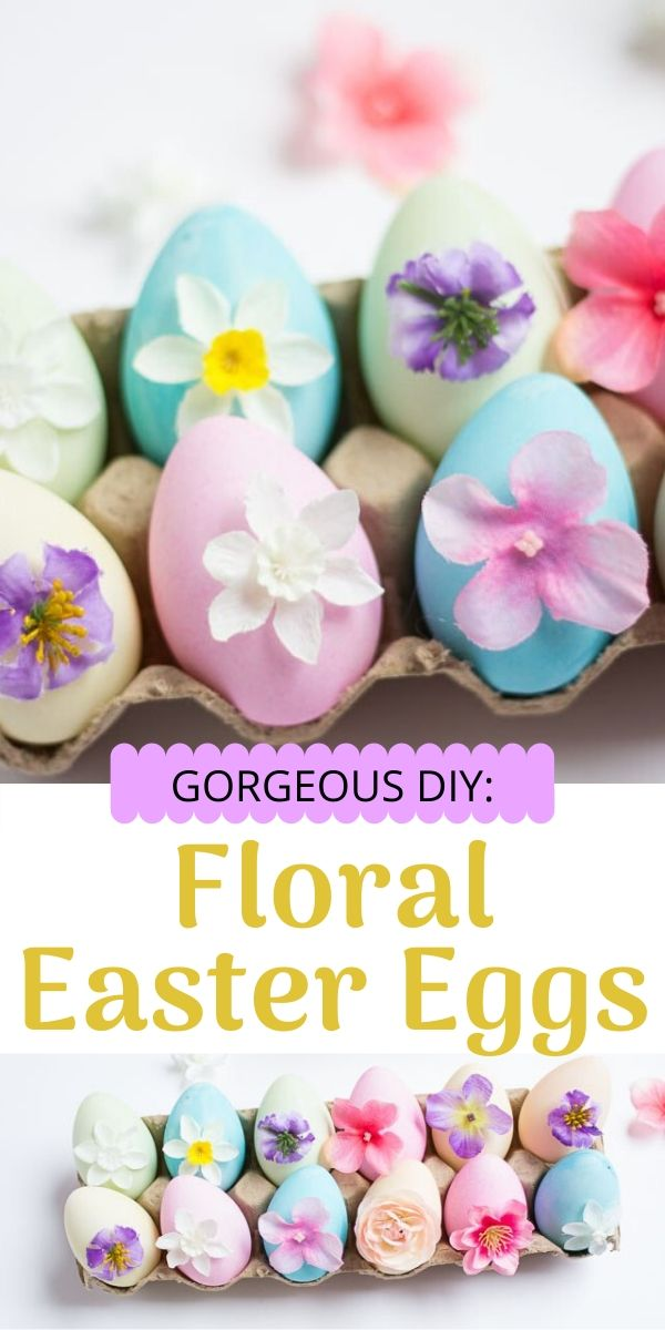 Floral Easter Eggs made with dollar store flowers!