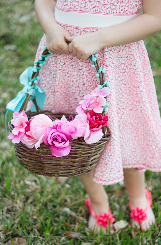 Dollar Tree Floral Easter Basket Idea