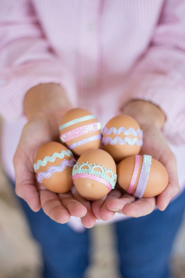 Ribbon Easter eggs