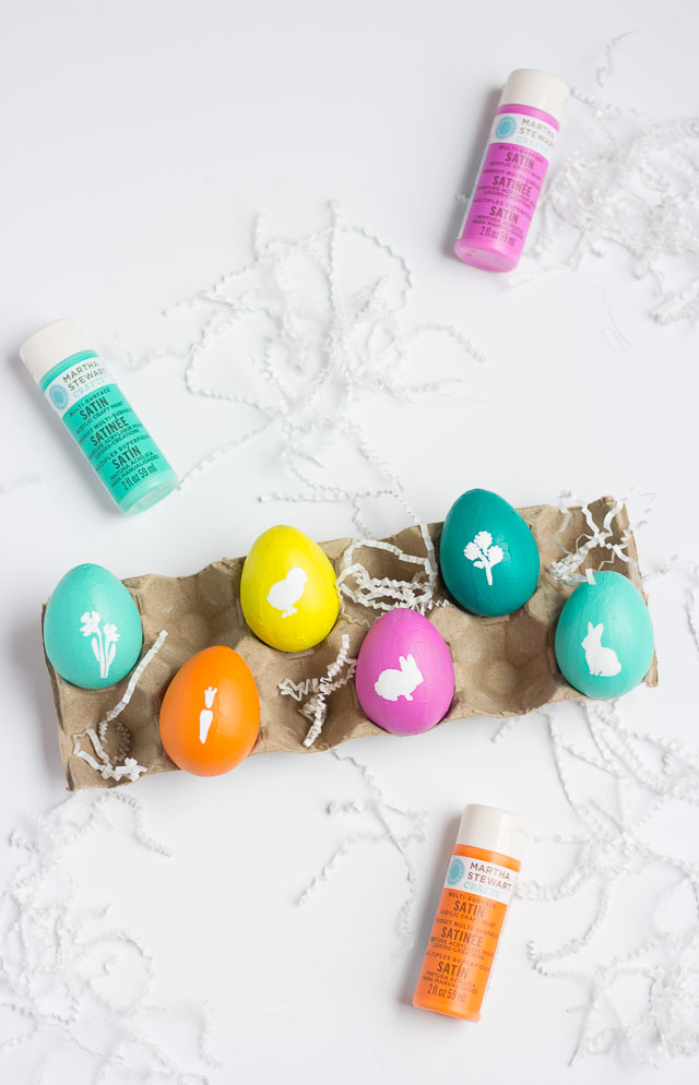 DIY Stenciled Easter Eggs
