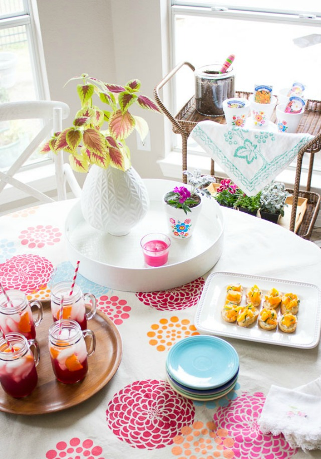 Host a Spring Flower Potting Party!