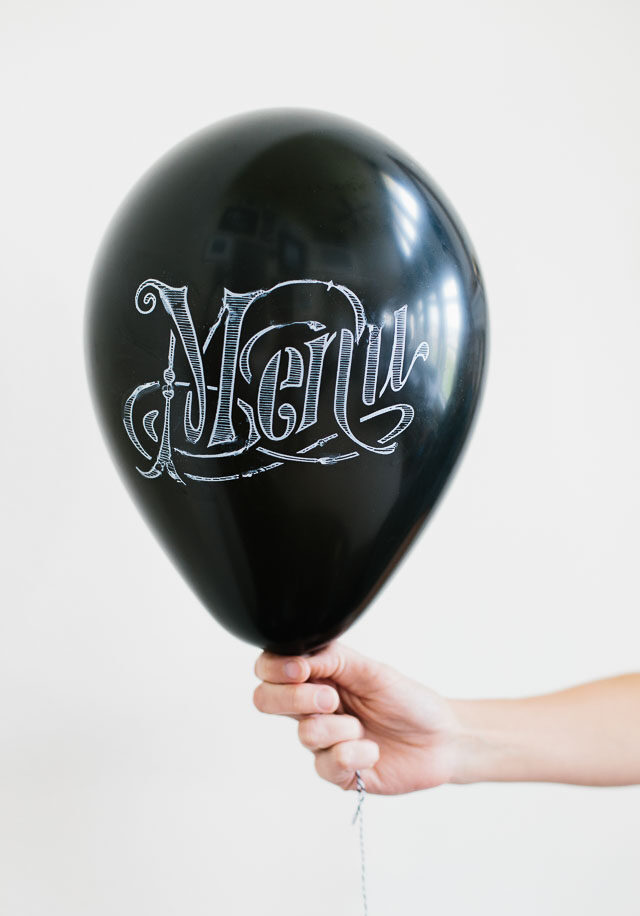 Chalkboard Balloons!