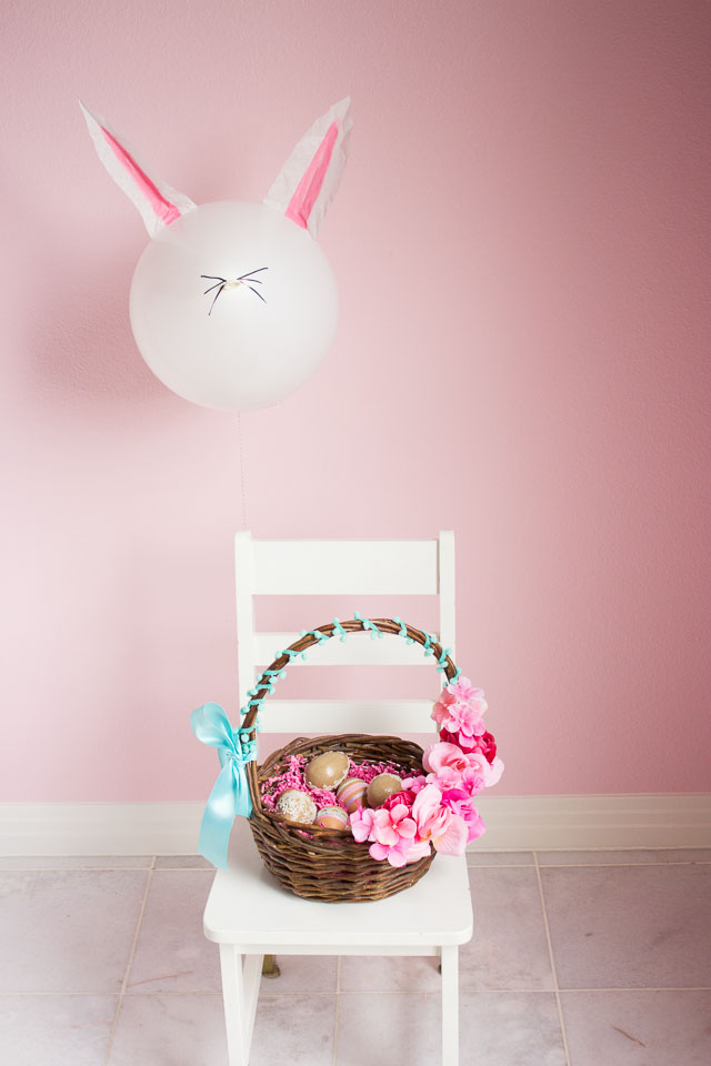Easter bunny balloon craft idea